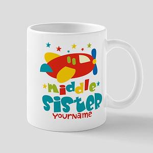 Middle Sister Plane - Personalized Mug