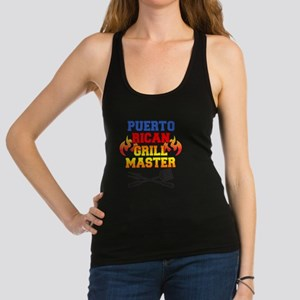Puerto Rican Grill Master Apron Racerback Tank Top