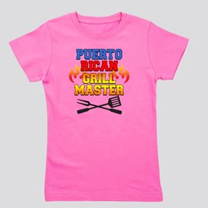 Puerto Rican Grill Master Apron Girl's Tee