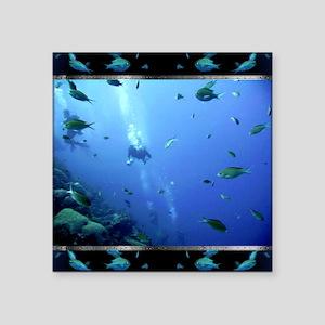 """Dive Square Sticker 3"""" x 3"""""""
