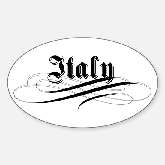 Italy Gothic Oval Decal