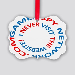 GAMER SPY NETWORK .COM Picture Ornament