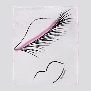LOVELY LASHES DIVA - PINK Throw Blanket