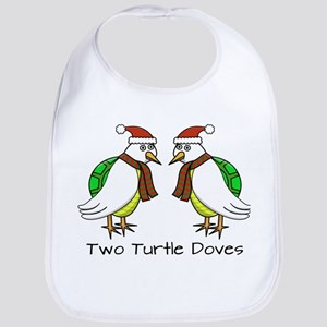 Two Turtle Doves Bib