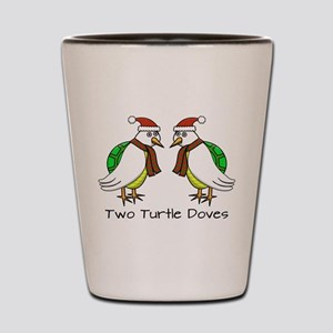 Two Turtle Doves Shot Glass