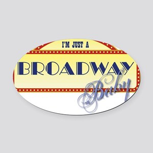 Broadway Baby Oval Car Magnet