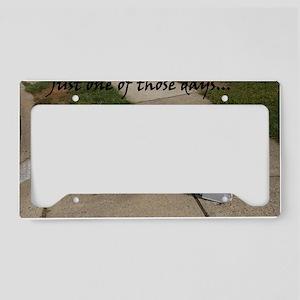 Bad Day License Plate Holder