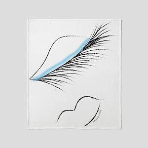 LOVELY LASHES DIVA - BLUE Throw Blanket