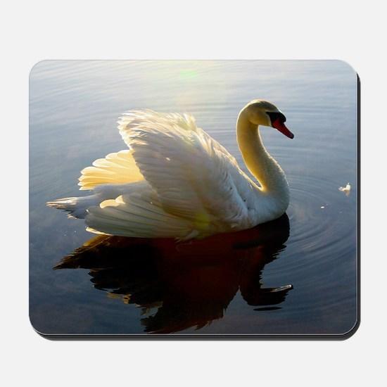 swan shirt Mousepad