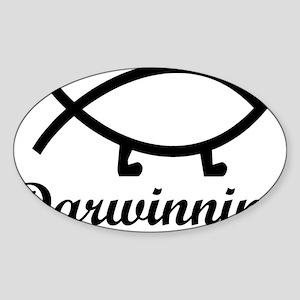 darwinning Sticker (Oval)