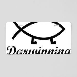 darwinningrectangle Aluminum License Plate