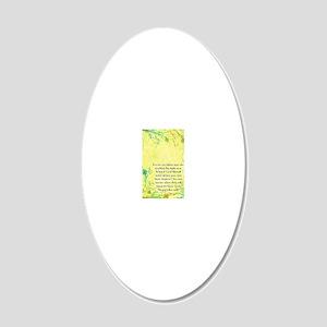 clipboard 20x12 Oval Wall Decal