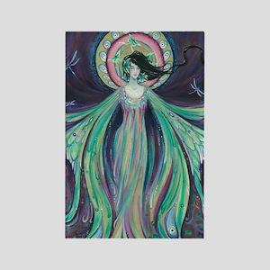 Luna Moth Art Nouveau Fairy Rectangle Magnet