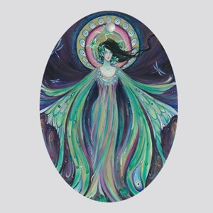 Luna Moth Art Nouveau Fairy Oval Ornament