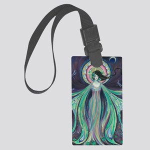 Luna Moth Art Nouveau Fairy Large Luggage Tag