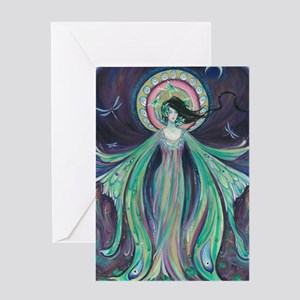 Luna Moth Art Nouveau Fairy Greeting Card
