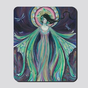 Luna Moth Art Nouveau Fairy Mousepad