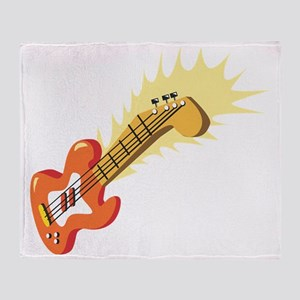 Electric Guitar Throw Blanket