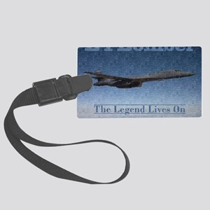 B-1 Nose Art Mosaic Poster Large Luggage Tag