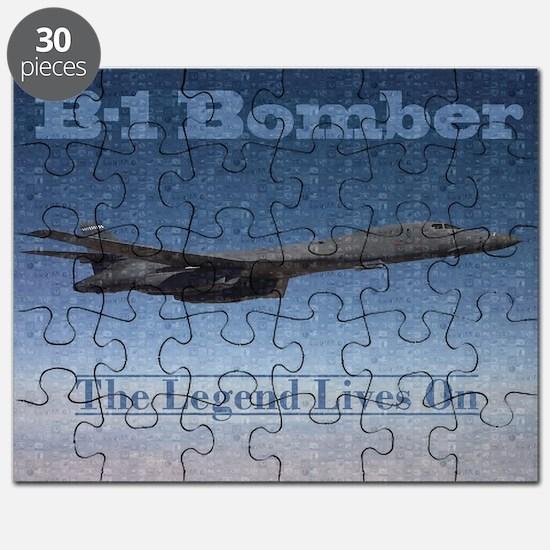 B-1 Nose Art Mosaic Poster Puzzle