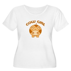 Brown Cow girl T-Shirt