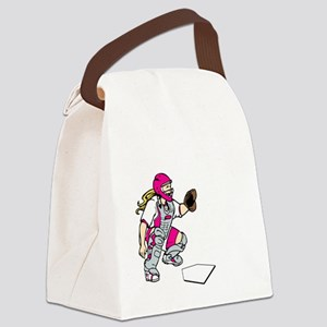 pink2 Access Denied on black Canvas Lunch Bag