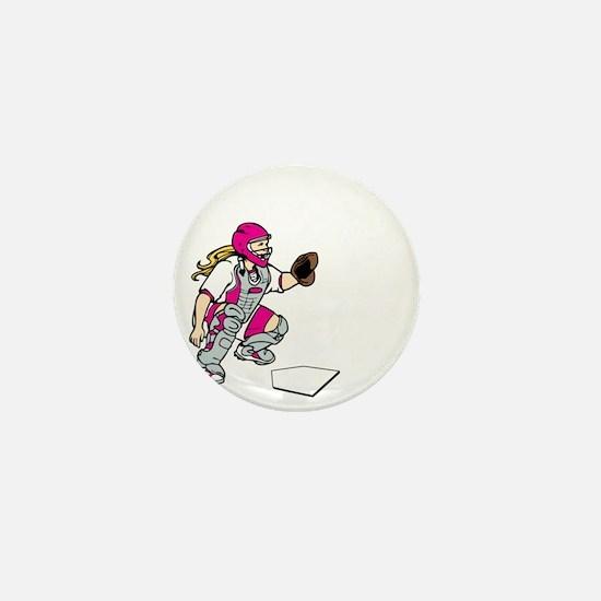 pink2 Access Denied on black Mini Button