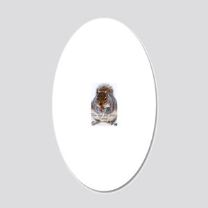 fat squirrel 20x12 Oval Wall Decal