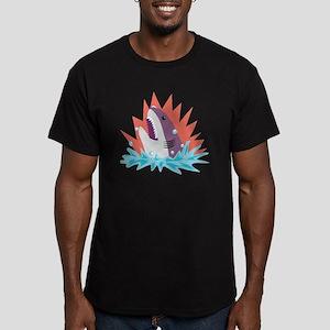 Great White Men's Fitted T-Shirt (dark)