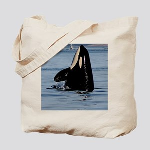 Spy Hopping Orca Tote Bag