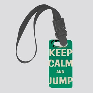 Keep Calm and Jump On Horse Small Luggage Tag