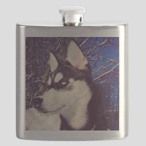 Siberian Husky Puppy Flask
