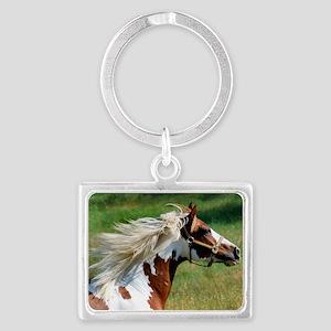 My Paint Horse Profile Landscape Keychain
