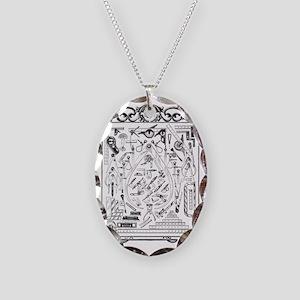 Machinist Tools Masonic Freema Necklace Oval Charm