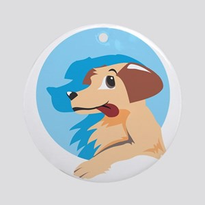 Dog Round Ornament