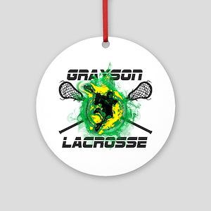 Grayson Lacrosse Round Ornament