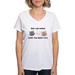 Never Too Many Cats Women's V-Neck T-Shirt