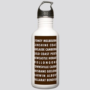 Chocolate AU Cities Stainless Water Bottle 1.0L