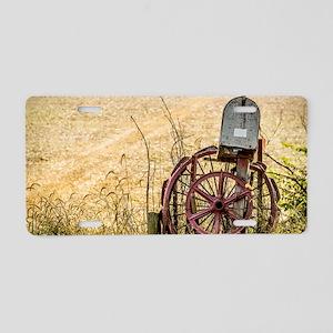 Wagon Wheel Mailbox Aluminum License Plate