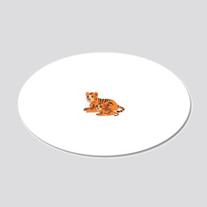 Tiger Family 20x12 Oval Wall Decal