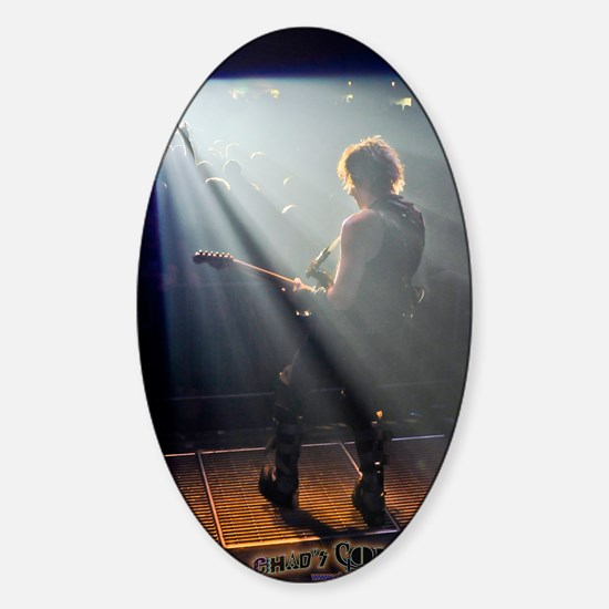 Chads Concert Pix poster Sticker (Oval)