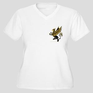 Gryphon Black Gold Women's Plus Size V-Neck T-Shir