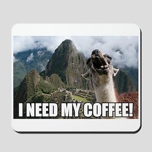 Bossy the Llama coffee Mousepad