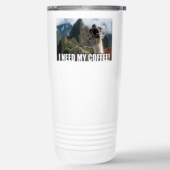 Bossy the Llama coffee Stainless Steel Travel Mug