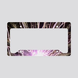 purple flare License Plate Holder