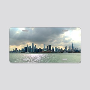 Chicago Skyline Aluminum License Plate