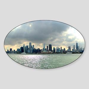 Chicago Skyline Sticker (Oval)