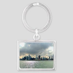 Chicago Skyline Landscape Keychain
