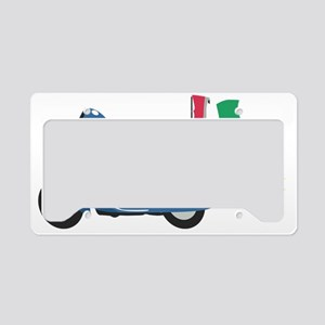 Italian Vespa License Plate Holder