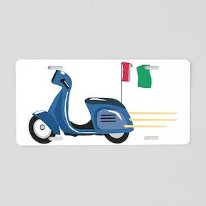 Italian Vespa Aluminum License Plate